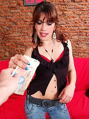Naughty girlie Ale discovers a new money making fun