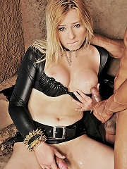 Blonde shemale submissive captured and destroyed