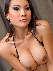 Ethnic t-girl Malisa going for wild self-servicing