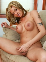 Sexy blonde bombshell Taliha from NYC loves stripping for the camera and deep throat blowjobs.